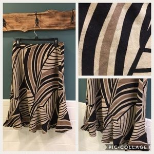 Sz 12 linen blend skirt with elastic waist